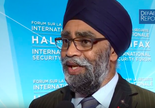 Canada's Sajjan on Halifax Forum, Strategy, Fighter Program & Spending