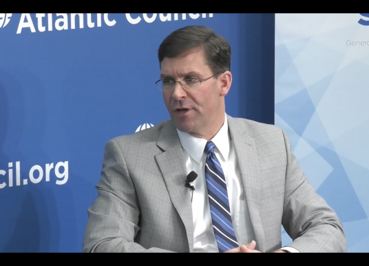 US Army's Esper at Atlantic Council on Great Power Competition