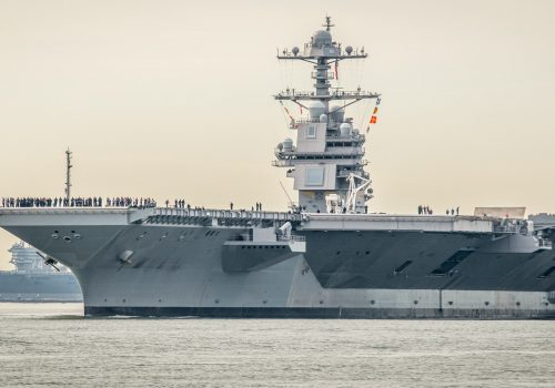Carrier Ford Underway For Tests as Navy Mulls Future Schedule