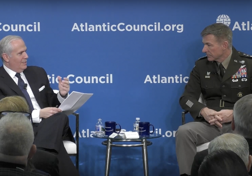 US Army's McConville at the Atlantic Council on the Future Army in Great Power Competition