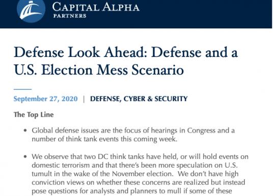 Defense & Aerospace Daily Podcast [Sep 28, 2020] Look Ahead w/ Byron Callan
